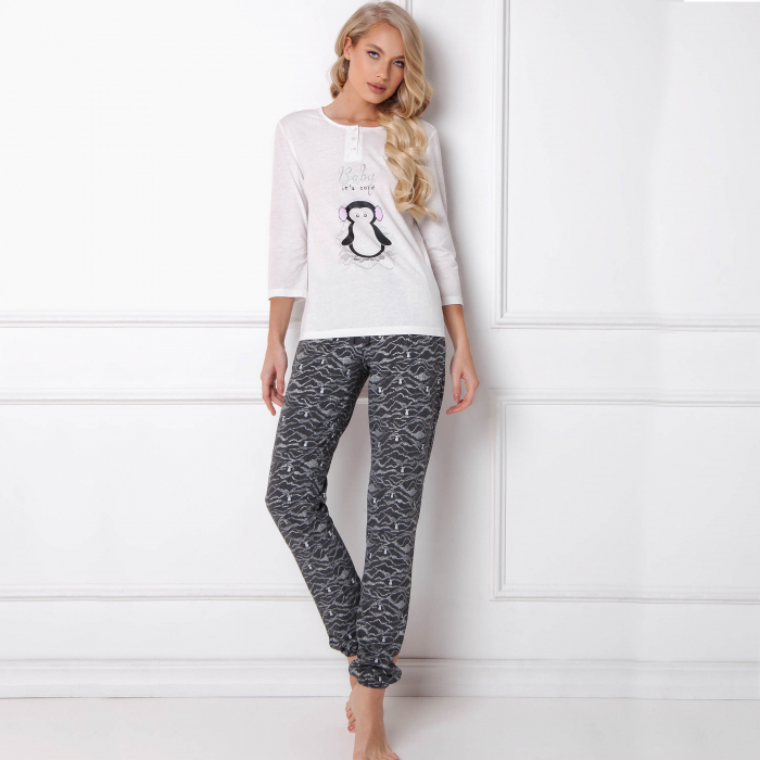 Pijamale dama Peggy Arctic 2 piese, pantaloni lungi 0
