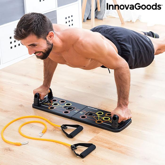 Placa fitness cu benzi elastice de rezistenta si ghid exercitii 2