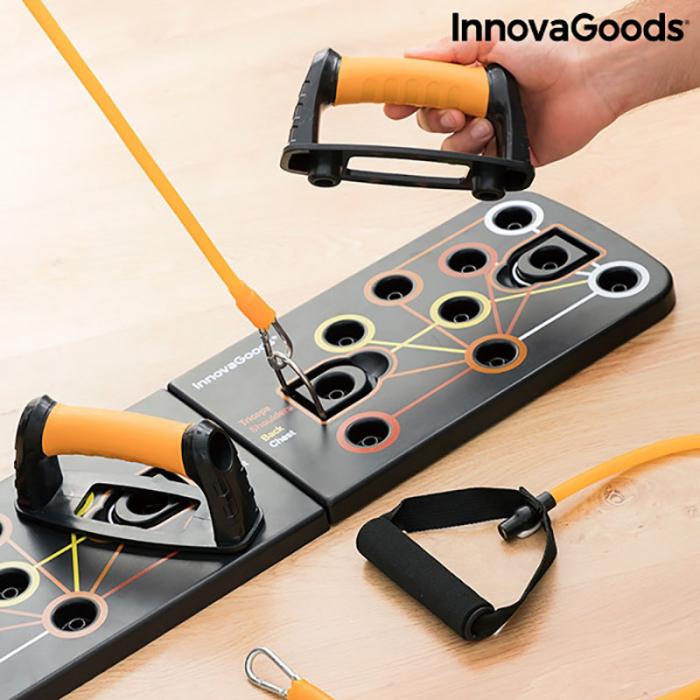Placa fitness cu benzi elastice de rezistenta si ghid exercitii 6