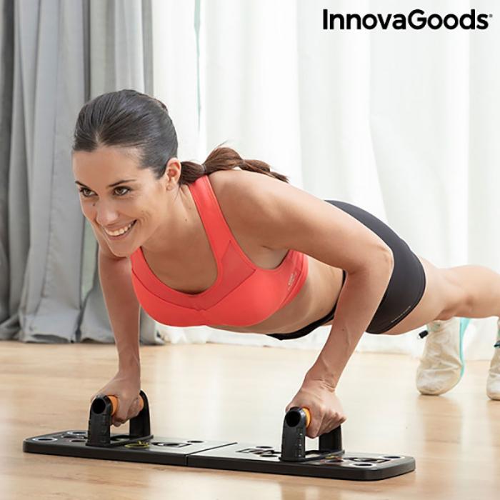 Placa fitness cu benzi elastice de rezistenta si ghid exercitii 5