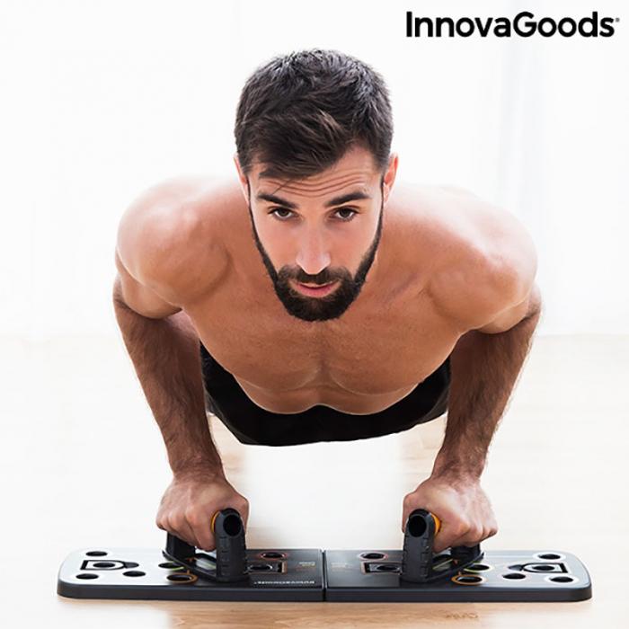 Placa fitness cu benzi elastice de rezistenta si ghid exercitii 3