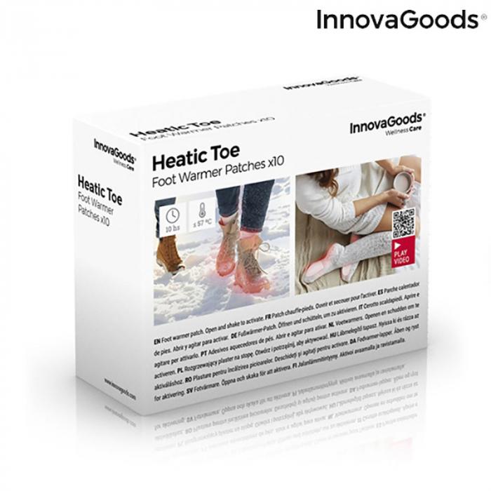 Plasturi termici pentru incalzirea picioarelor, Heatic Toe, 10 bucati 11