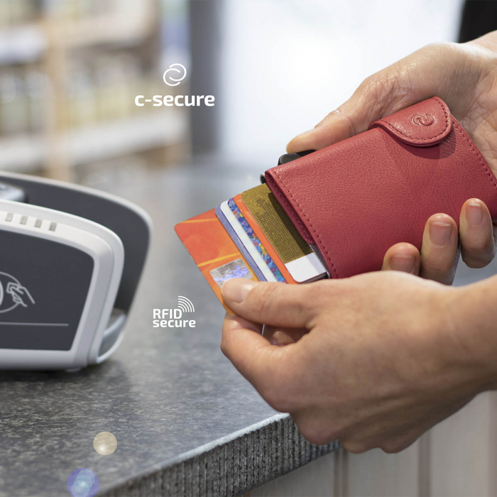 Portofel Carduri RFID din piele 1