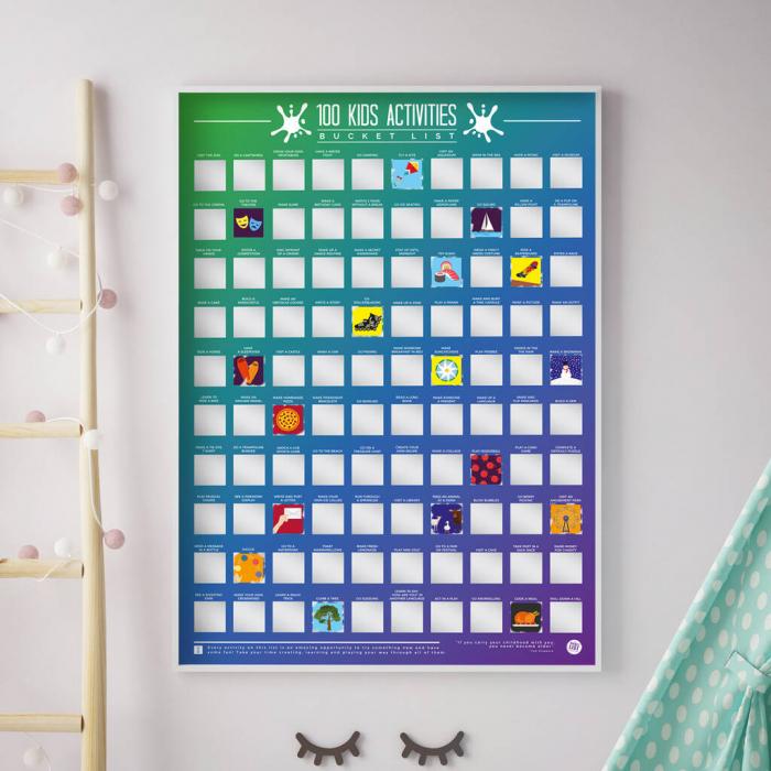 Poster razuibil 100 activitati pentru copii 0