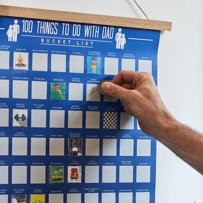 Poster razuibil 100 lucruri de facut cu tata 3