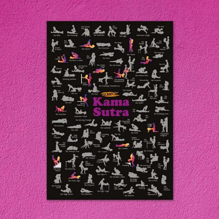 Poster razuibil 100 pozitii Kama Sutra Fun Positions 1