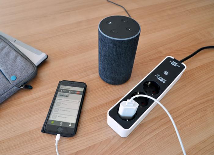 Prelungitor smart, 3 prize, control vocal Alexa sau Google, WIFI, timer 1