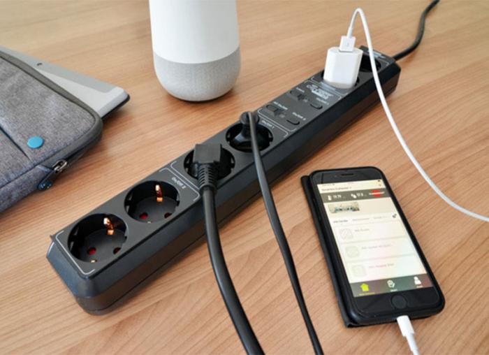 Prelungitor smart, 5 prize, control vocal Alexa sau Google, WIFI, timer 1