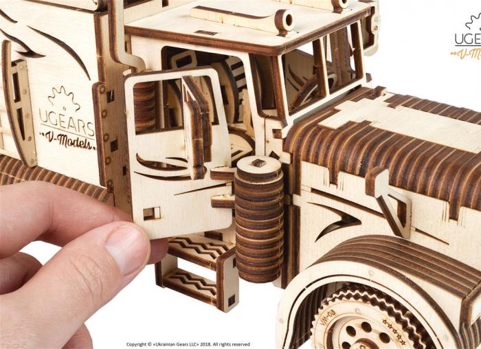 Puzzle 3D Camion VM-03 din lemn Ugears 14