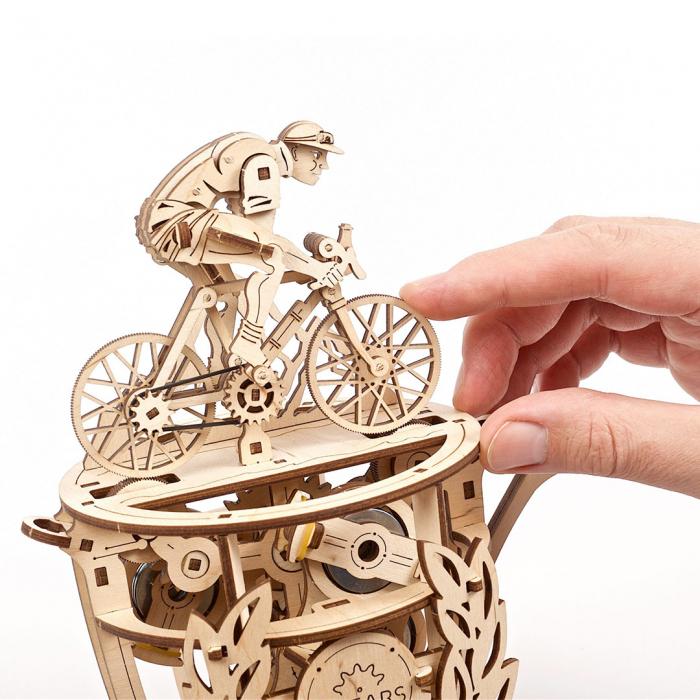 Puzzle 3D Ciclist Automat din lemn Ugears [5]