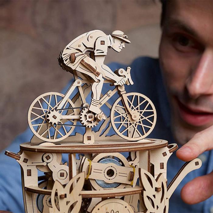 Puzzle 3D Ciclist Automat din lemn Ugears [1]