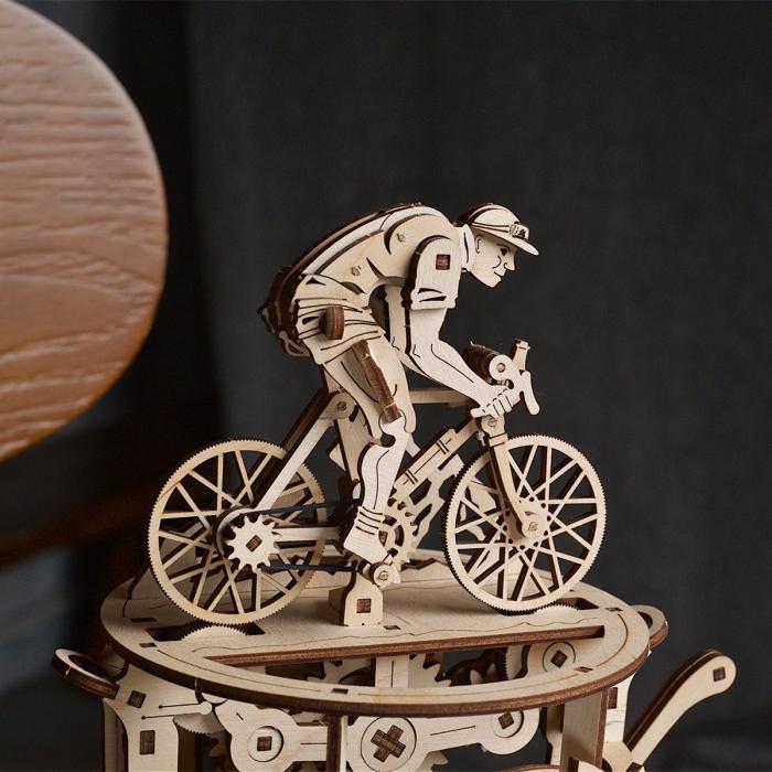 Puzzle 3D Ciclist Automat din lemn Ugears [4]