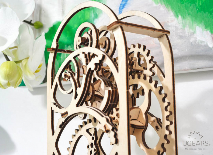 Puzzle 3D Cronometru Ugears 4