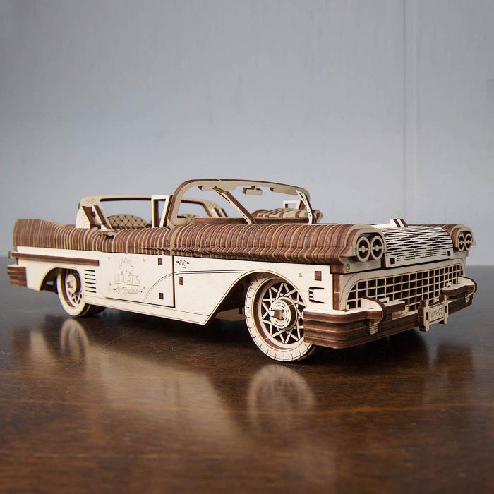 Puzzle 3D Dream Cabriolet VM-05 din lemn Ugears 1