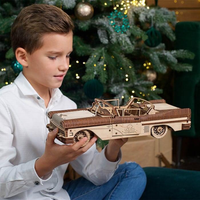 Puzzle 3D Dream Cabriolet VM-05 din lemn Ugears 0