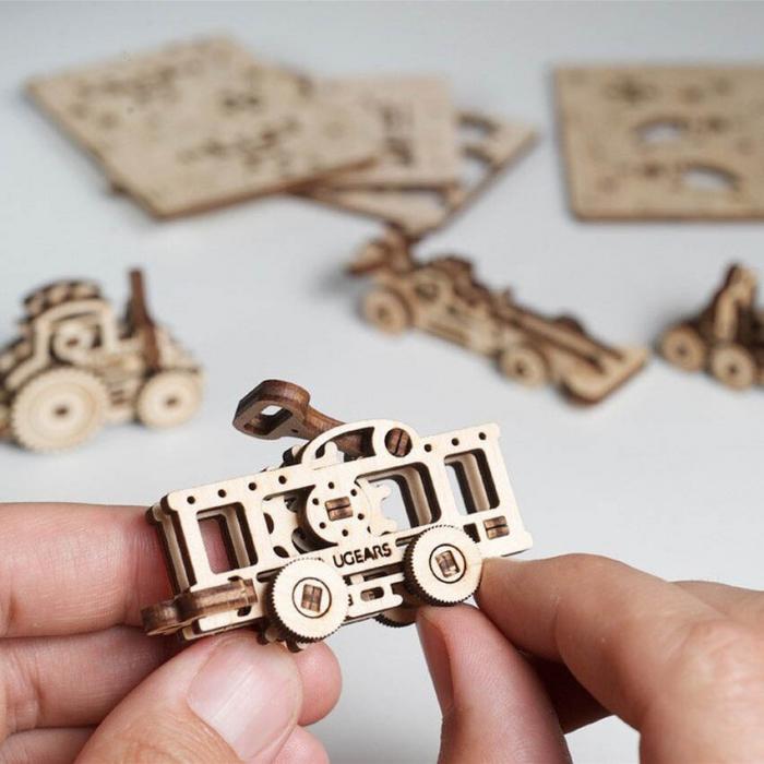 Puzzle 3D Fidget Vehicule din Lemn Ugears 0