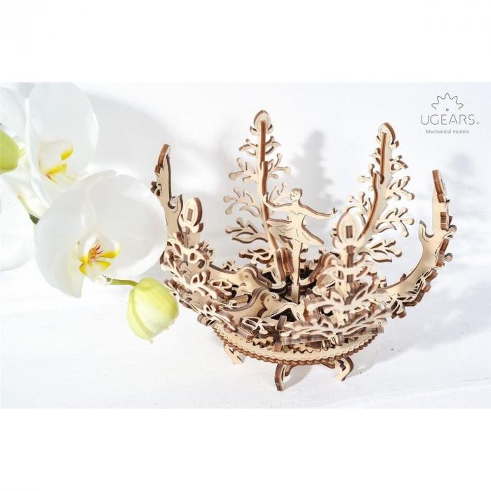 Puzzle 3D Floare din Lemn Ugears 3