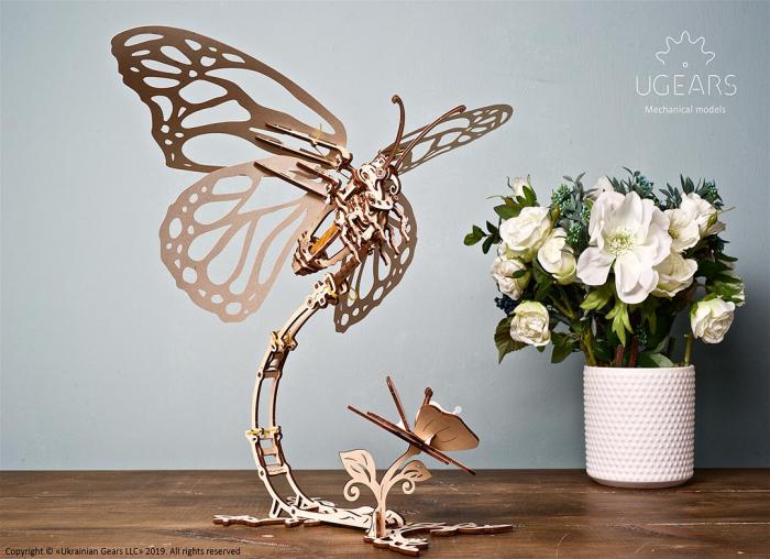 Puzzle 3D Fluture mecanic Ugears 1