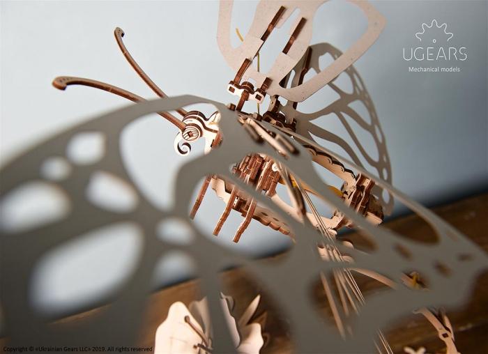 Puzzle 3D Fluture mecanic Ugears 9