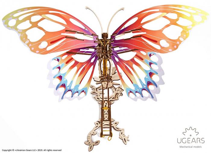 Puzzle 3D Fluture mecanic Ugears 11