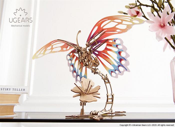 Puzzle 3D Fluture mecanic Ugears 8