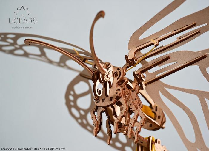 Puzzle 3D Fluture mecanic Ugears 10