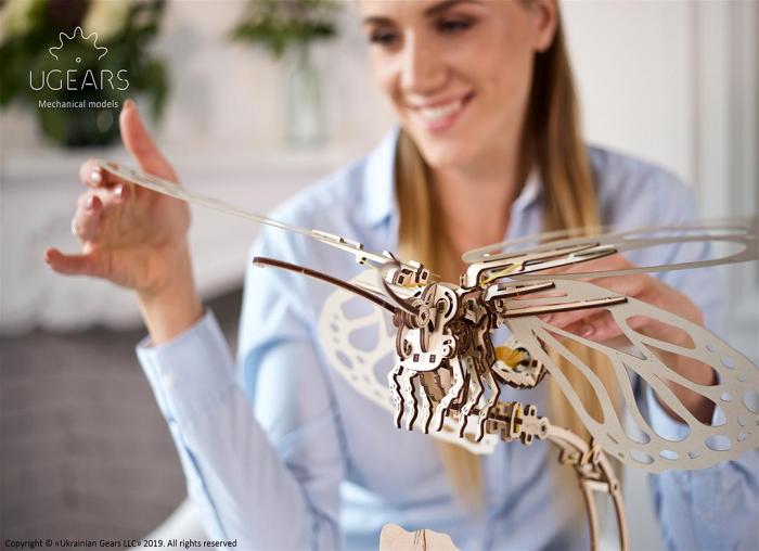 Puzzle 3D Fluture mecanic Ugears 4