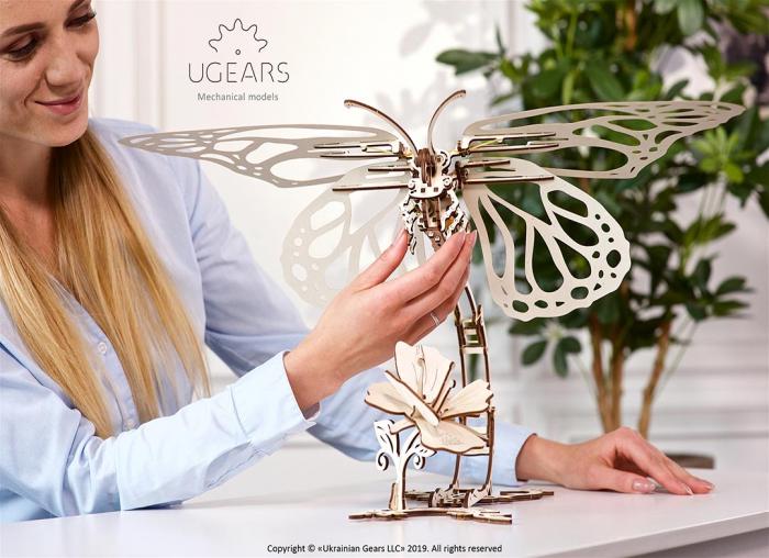 Puzzle 3D Fluture mecanic Ugears 3