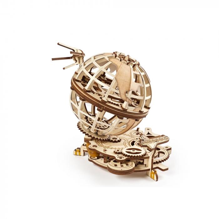 Puzzle 3D Glob pamantesc din lemn Ugears 2
