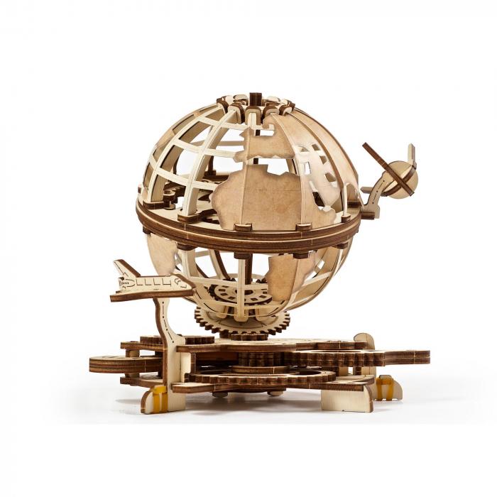 Puzzle 3D Glob pamantesc din lemn Ugears 1