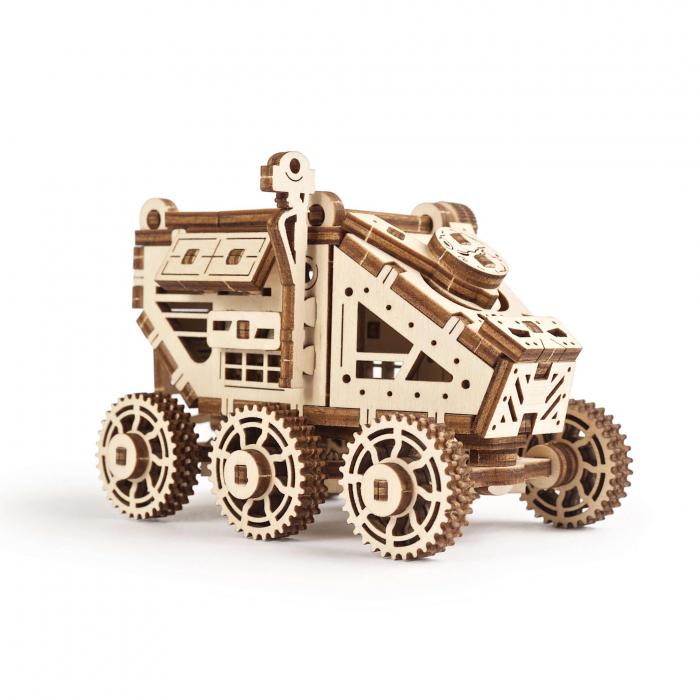 Puzzle 3D Mars Buggy din lemn Ugears 4
