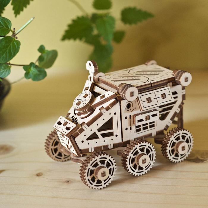 Puzzle 3D Mars Buggy din lemn Ugears 0