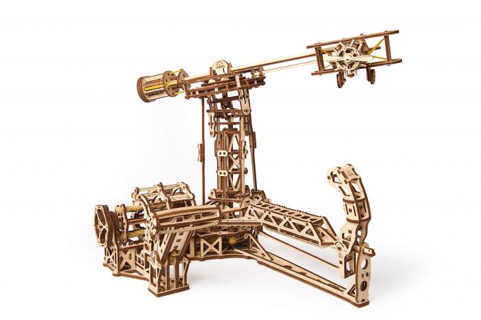 Puzzle 3D Model Aviator din lemn Ugears 20