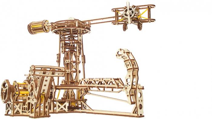 Puzzle 3D Model Aviator din lemn Ugears 22