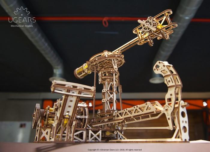 Puzzle 3D Model Aviator din lemn Ugears 17