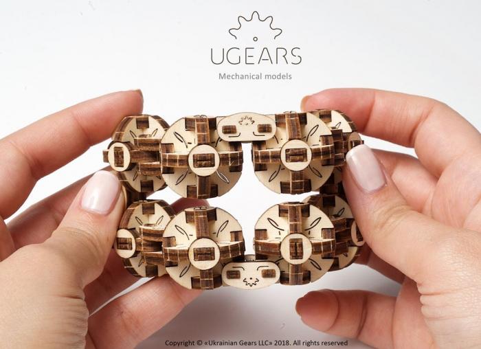 Puzzle 3D Model Flexi-cubus din lemn Ugears 2