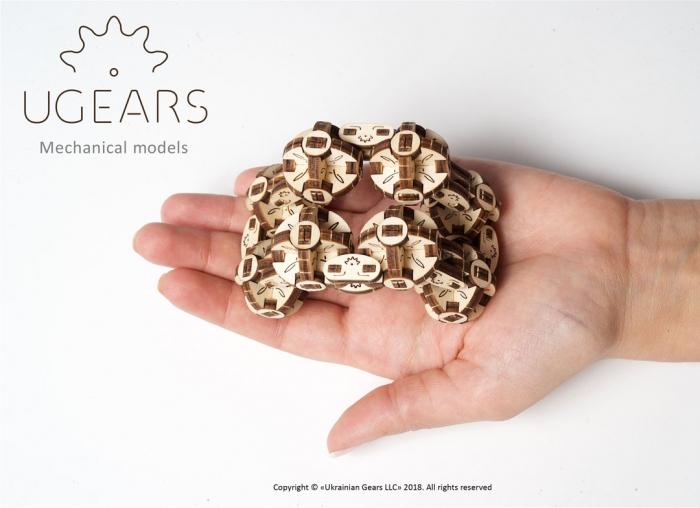 Puzzle 3D Model Flexi-cubus din lemn Ugears 3