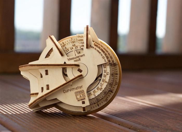Puzzle 3D Model STEM Curbimetru din lemn Ugears 4