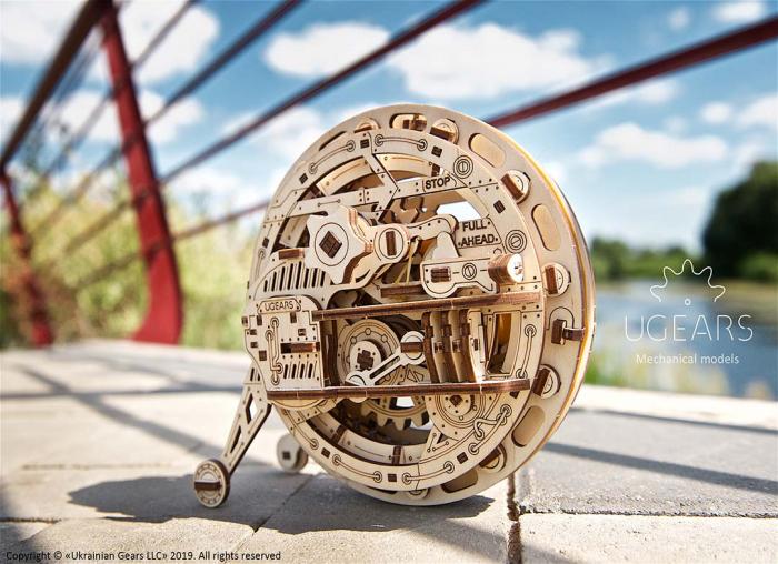 Puzzle 3D Monociclu Ugears 4