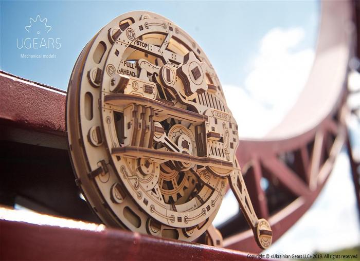 Puzzle 3D Monociclu Ugears 3