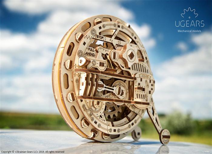 Puzzle 3D Monociclu Ugears 5