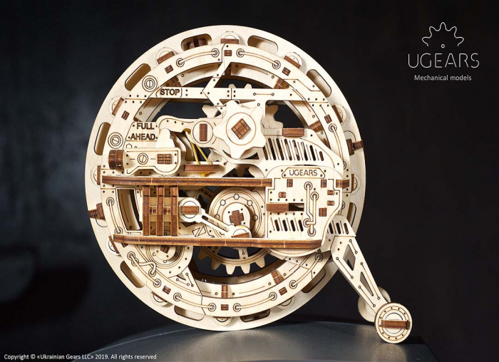 Puzzle 3D Monociclu Ugears 0