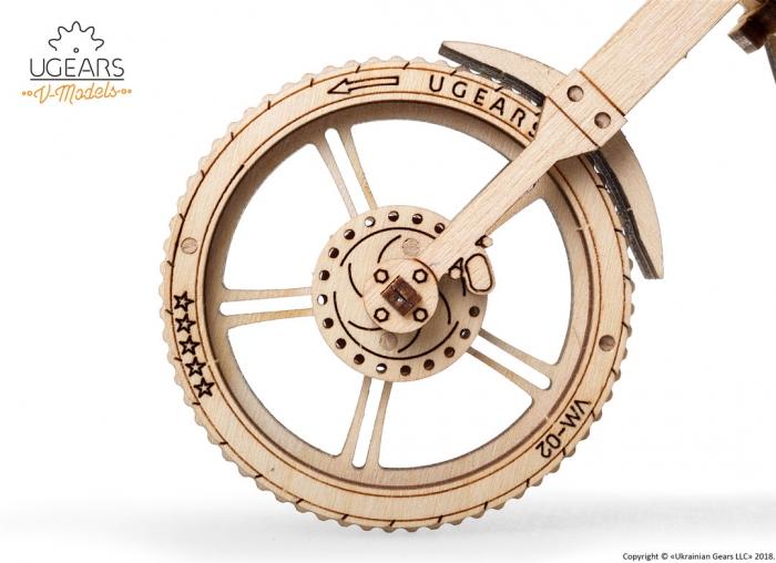 Puzzle 3D Motocicleta VM-02 din lemn Ugears 14