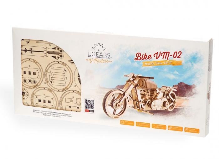 Puzzle 3D Motocicleta VM-02 din lemn Ugears 15