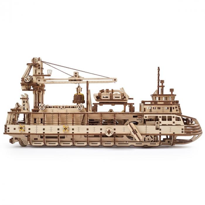 Puzzle 3D Nava de cercetare din lemn Ugears 8