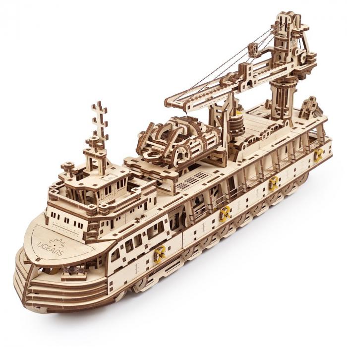 Puzzle 3D Nava de cercetare din lemn Ugears 12