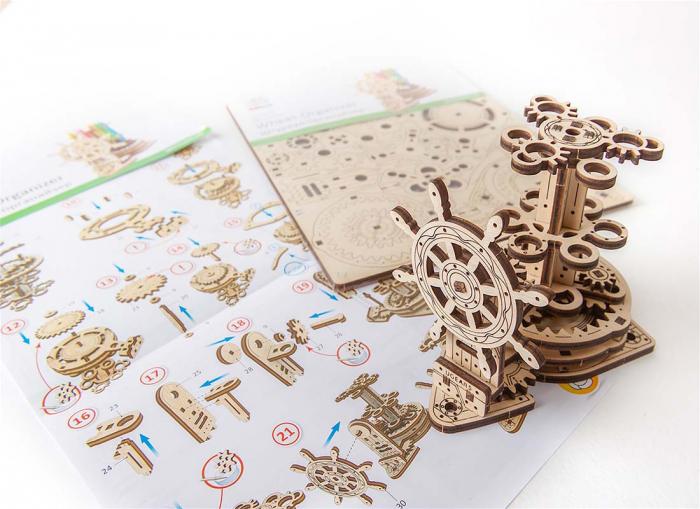 Puzzle 3D Organizator birou cool Ugears 9