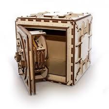 Puzzle 3D Seif din Lemn Ugears 26