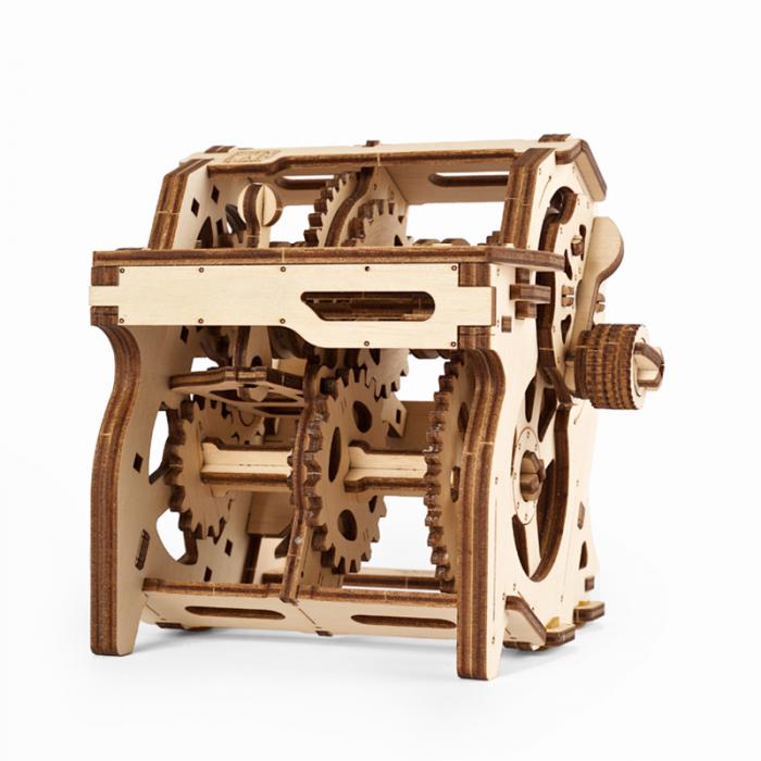Puzzle 3D STEM Cutia de viteze din lemn Ugears 1