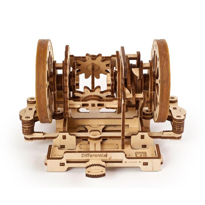 Puzzle 3D STEM Diferentialul din lemn Ugears 1